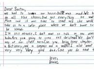 Rơi nước mắt bức thư của bé trai 7 tuổi gửi ông già Noel xin một người cha tốt