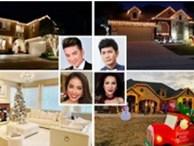 Không gian nhà lung linh, ngập tràn ánh đèn của các sao Việt tại Mỹ vào dịp Noel 2019