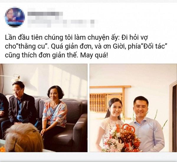 Hot: Lộ ảnh Hoa hậu Ngọc Hân bí mật làm lễ dạm ngõ với bạn trai nhiều năm?-1