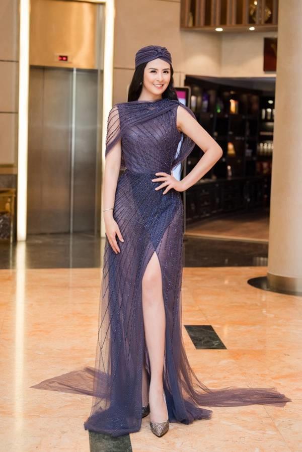 Hoa hậu Ngọc Hân mặc váy xuyên thấu gợi cảm sau khi rò rỉ ảnh dạm ngõ-2