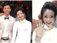 Vợ Phan Văn Đức khoe vòng vàng, nhẫn vàng đầy tay sau lễ ăn hỏi