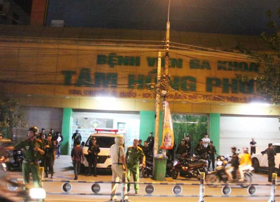 Công an Đồng Nai trắng đêm trấn áp nhóm giang hồ xông vào Bệnh viện Tâm Hồng Phước khống chế giám đốc đòi nợ-1