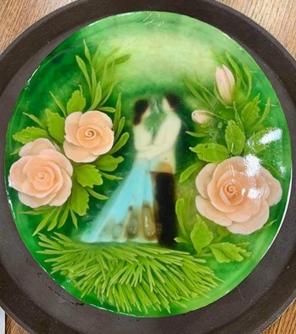 Chiếc bánh đẹp tựa như một bức tranh trong sinh nhật NSND Tự Long-4