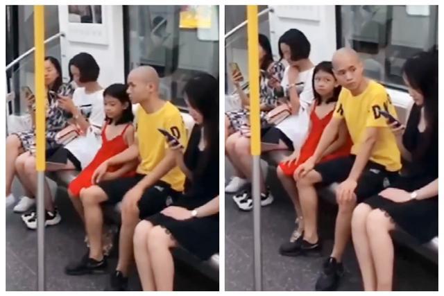 Bố nhìn trộm người phụ nữ xinh đẹp trên tàu điện ngầm, con gái nhỏ đã có hành động xử đẹp khiến ông hú hồn-1