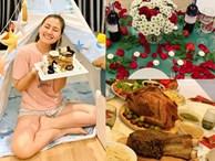 Đại tiệc nhà sao Việt đêm Giáng sinh: Ngọc Lan vui vẻ vào bếp sau ly hôn