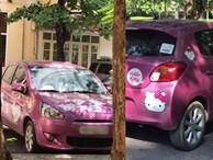 Cô giáo NEU 'chơi lớn' với ô tô màu hồng đầy hình Hello Kitty, bên trong tràn ngập gấu bông: Hóa ra tất cả đều vì con gái