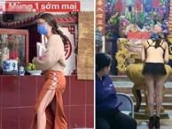 Mặc váy hở cả nội y khi đi lễ chùa, cô gái khiến ai nhìn cũng ngán ngẩm với kiểu thời trang phang hoàn cảnh