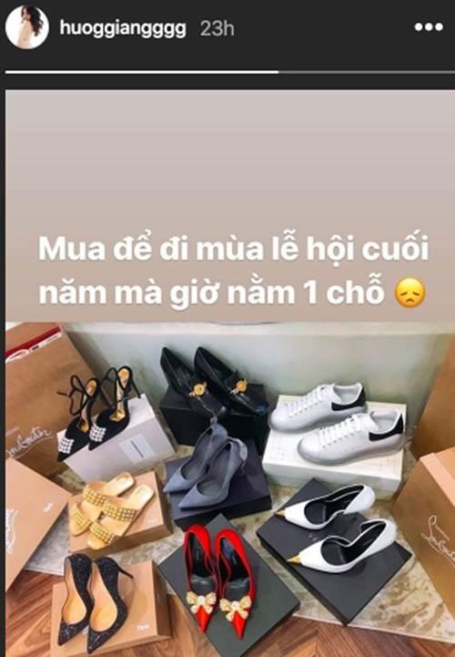 Hoa hậu Hương Giang sắm 8 đôi giày hiệu, chuẩn bị cho cuối năm nhưng vẫn chưa được diện-1
