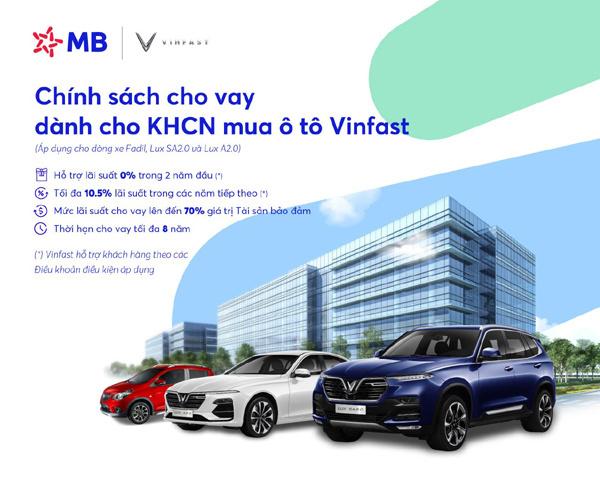 Loạt ưu đãi khi vay vốn MB mua ô tô Vinfast-1