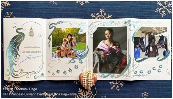 2 nàng công chúa Thái Lan chia sẻ thiệp mừng năm mới 2020 khác nhau một trời một vực: Người đơn giản khí chất, người sang chảnh cầu kỳ-1