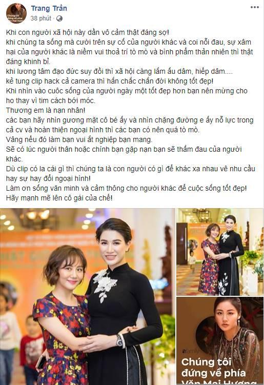 Hàng loạt sao Việt đã có động thái này trước việc ca sĩ Văn Mai Hương bị tung clip riêng tư-1