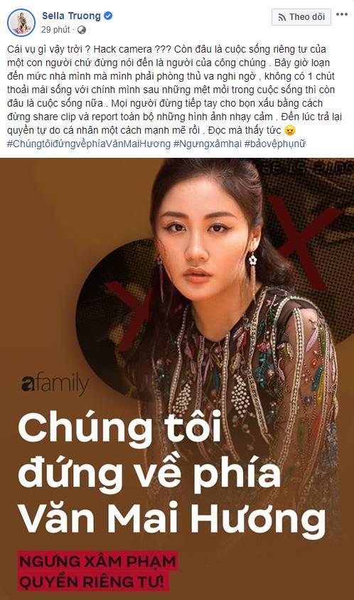 Hàng loạt sao Việt đã có động thái này trước việc ca sĩ Văn Mai Hương bị tung clip riêng tư-4