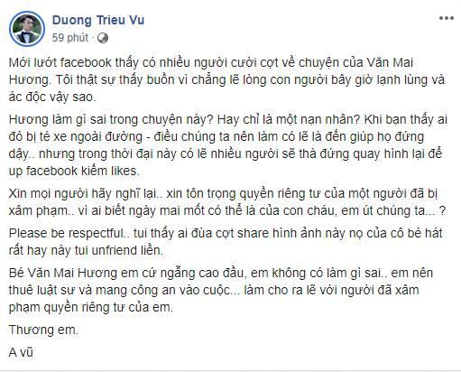 Hàng loạt sao Việt đã có động thái này trước việc ca sĩ Văn Mai Hương bị tung clip riêng tư-5
