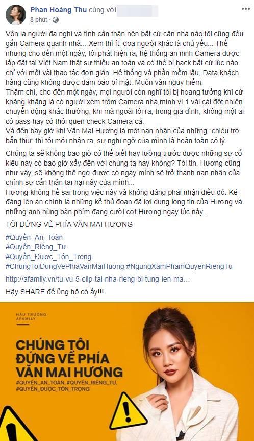 Hàng loạt sao Việt đã có động thái này trước việc ca sĩ Văn Mai Hương bị tung clip riêng tư-9