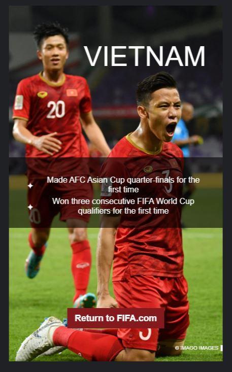 Tuyển Việt Nam được FIFA vinh danh-1