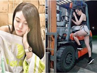 Nữ nhân viên xếp hàng kho xinh đẹp gây tranh cãi vì ăn mặc quyến rũ: Sở thích cá nhân hay làm lố?