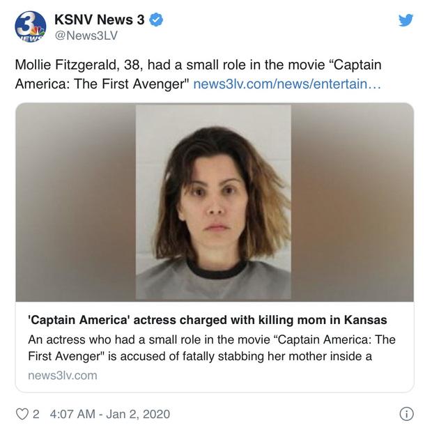 SỐC: Nữ minh tinh Captain America bị bắt khẩn cấp vì đâm chết mẹ ruột, liệt vào diện tội phạm giết người cấp độ 2-1