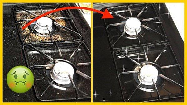 Dùng baking soda theo cách này, bếp gas cáu bẩn cả năm cũng sáng bóng sau vài phút-2