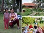 Vợ chồng Thuý Hạnh cùng hai con ngắm hoàng hôn ở Phú Quốc-9