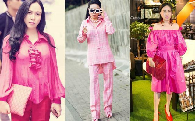 Sắc hồng ngọt ngào là thế mà hễ Phượng Chanel mặc là y như rằng bầu trời thời trang sụp đổ-4
