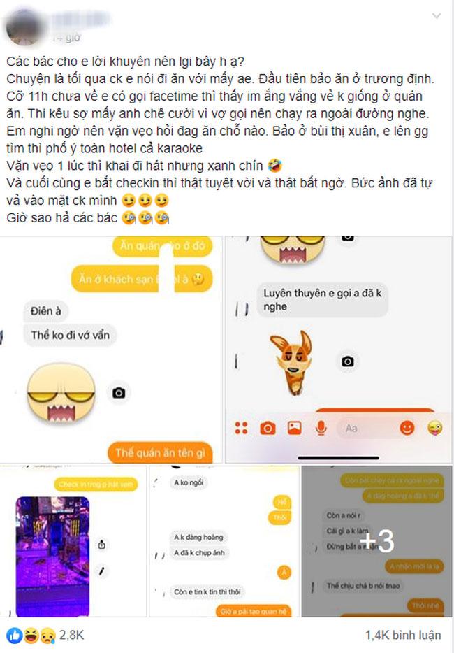 Lừa vợ đi ăn, anh chồng gửi nhầm định vị và bức ảnh để lộ chi tiết khó tin, giúp chị vợ bắt tại trận đang cặp kê với đào ở karaoke-1