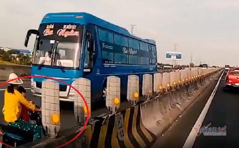 Thông tin bất ngờ vụ mẹ chở con ngược chiều trên cao tốc Trung Lương-1