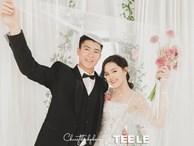 Duy Mạnh khoe bức ảnh cưới đầu tiên cô dâu chú rể nhan sắc cực phẩm, Đình Trọng khóc ròng: 'Vậy là một người nữa đi lấy vợ'