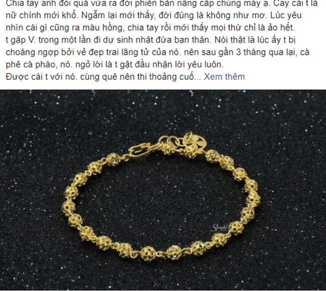 Phiên bản nâng cấp của chia tay đòi quà, chàng trai yêu cầu bạn gái trả lắc tay đã tặng lúc còn mặn nồng theo giá vàng hiện tại-1