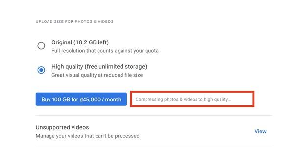 Cách nén ảnh và video trên Google Photos để tiết kiệm không gian lưu trữ-4