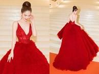 Ngọc Trinh diện đầm đỏ nóng bỏng, lộng lẫy như 'bà hoàng'