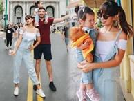 Vợ chồng Hà Anh dẫn con gái vi vu Singapore, bé Myla 'lí lắc' xem cá heo