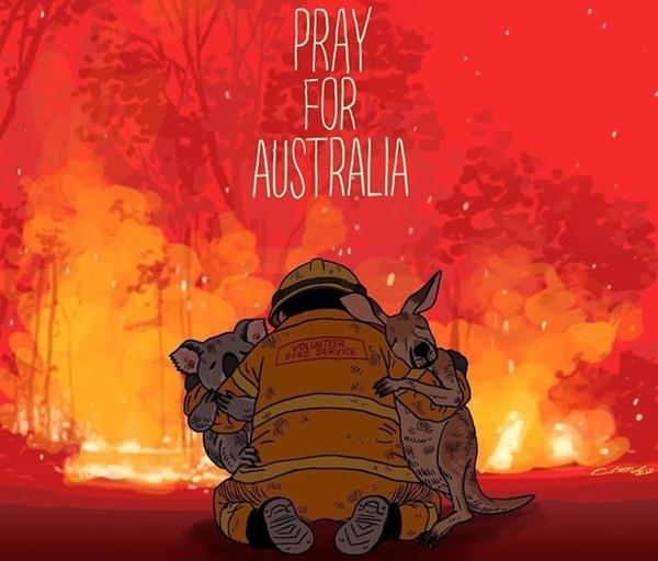 Mạng xã hội ngập ảnh bầu trời đỏ do cháy rừng ở Australia-4