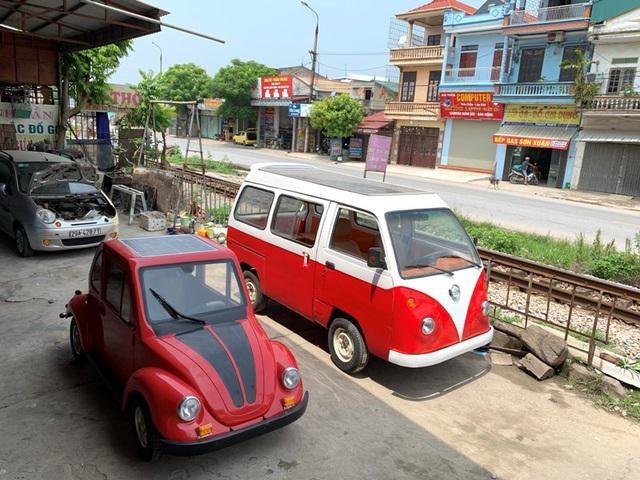 Cậu học sinh Nam Định chế ô tô chạy bằng năng lượng mặt trời chở được 12 người-1