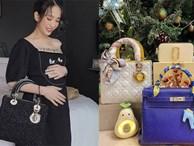 Mẹ bầu thường nghiện khoe bụng, con gái Minh Nhựa thì chỉ mê khoe túi hàng hiệu đắt đỏ