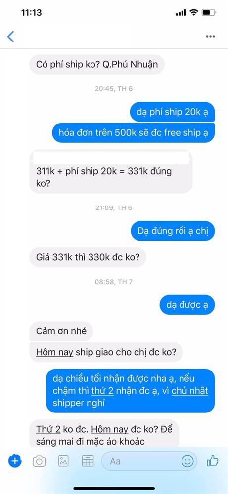 Phận làm chủ shop: Muốn tụt huyết áp trước thượng đế mua đồ trên 300k nhưng nằng nặc xin giảm 1k tiền ship-1