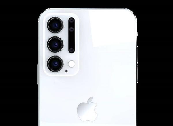 Thiết kế iPhone 12 Pro với 6 camera sau, Face ID đục lỗ-4