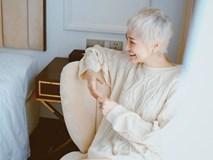 Bảo Anh ngày càng thích diện đồ hở hang sau khi nhuộm tóc bạch kim