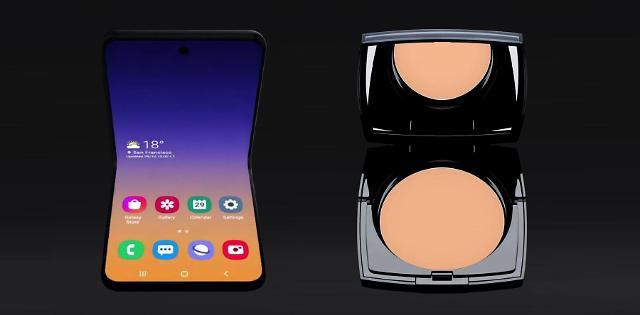 Smartphone màn hình gập vỏ sò của Samsung sẽ có tên là Galaxy Bloom, lấy cảm hứng thiết kế từ hộp phấn trang điểm-3