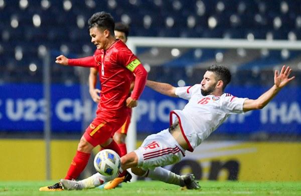 Tuyển thủ U23 Việt Nam hành động thiếu kiềm chế với trọng tài chính ở VCK U23 châu Á 2020-8