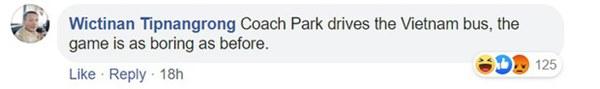 Fan Thái Lan chê thầy Park chỉ biết cho các học trò U23 Việt Nam dựng xe buýt trước khung thành để chịu trận-2