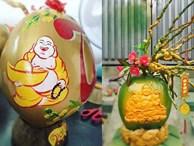 'Phật Di Lặc' hiện hình trên quả dừa, vàng rực giữa mùa Tết này