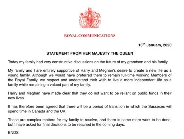 Nữ hoàng Anh ra thông báo chính thức quyết định số phận của vợ chồng Meghan Markle trong hoàng gia khiến nhiều người thất vọng-2