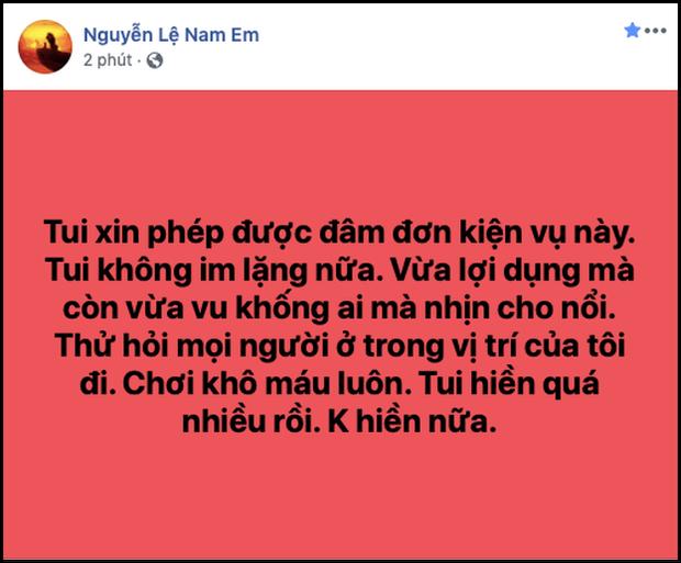 Nam Em tiếp tục lên tiếng về scandal bị tố giật chồng, tiết lộ ngỡ ngàng về mối quan hệ với VJ Quốc Bảo-3