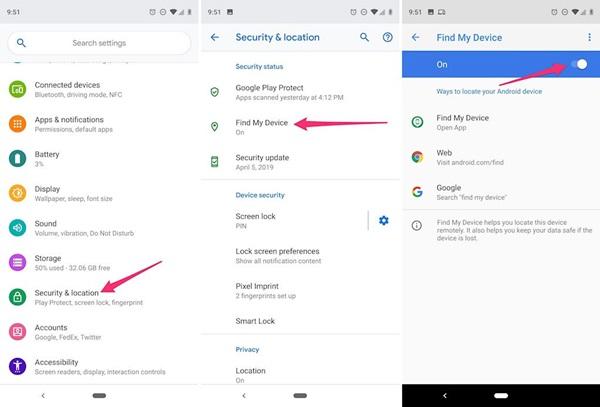 Phải làm gì trước và sau khi bị mất điện thoại Android, Samsung?-1