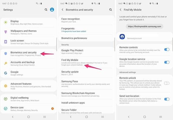 Phải làm gì trước và sau khi bị mất điện thoại Android, Samsung?-2