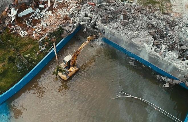 Cưỡng chế tháo dỡ công viên nước Thanh Hà hiện đại bậc nhất Thủ đô-2
