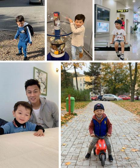 Vợ chồng Kỳ Hân đón con trai về Việt Nam ăn Tết, cu Tỏi gây choáng toàn tập với vẻ ngoài hoàn toàn khác lạ-4