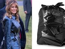 Khổ thân bà Melania Trump: Diện áo hiệu 50 triệu mà bị ví như khoác túi đựng rác