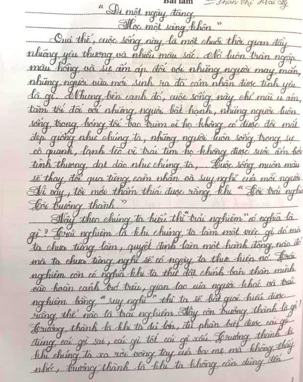 Những bài thi chữ đẹp của học sinh Sài Gòn-4