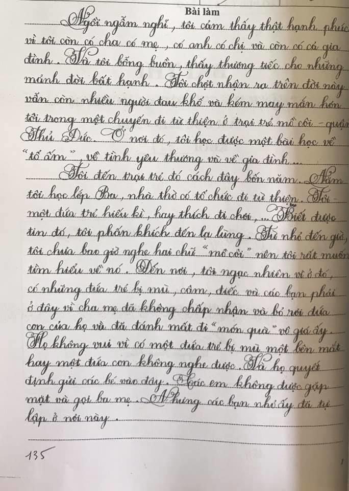Những bài thi chữ đẹp của học sinh Sài Gòn-6